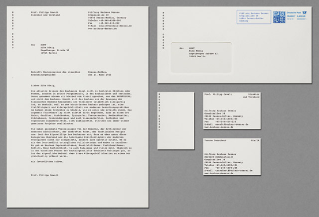 Bauhaus Dessau identity sample by HORT