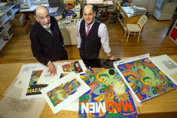 Milton Glaser NYT Mad Men posters