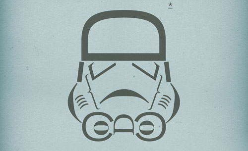 Stormtrooper created using typography